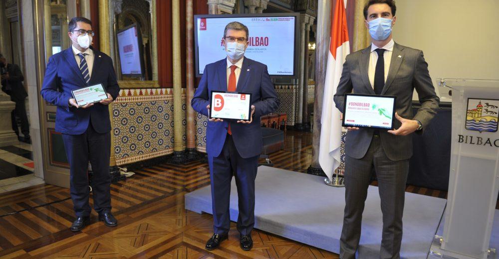 """185.000 """"BONOS BILBAO"""" GENERARÁN 9 MILLONES DE EUROS PARA LOS 4 SECTORES MAS DESFAVORECIDOS POR EL COVID-19"""
